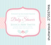 baby shower | Shutterstock .eps vector #272037446