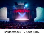 theater curtain and stage with... | Shutterstock . vector #272057582