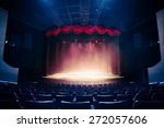 theater curtain and stage with... | Shutterstock . vector #272057606