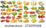 set of fruit isolated on white... | Shutterstock . vector #272059208