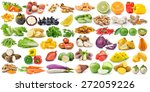 set of fruit and vegetable on... | Shutterstock . vector #272059226