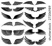 wings. elements for design.... | Shutterstock .eps vector #27206989