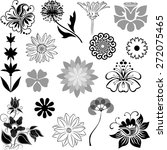 floral collection | Shutterstock .eps vector #272075465