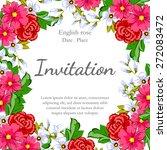 english rose. romantic... | Shutterstock .eps vector #272083472