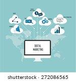 internet marketing flat design... | Shutterstock .eps vector #272086565