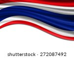 thai waving flag with shadow on ... | Shutterstock . vector #272087492