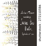 save the date invitation card... | Shutterstock . vector #272110586