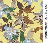 vectroe seamples pattern flower  | Shutterstock .eps vector #272117522