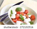 close of tomato and mozarella... | Shutterstock . vector #272132516
