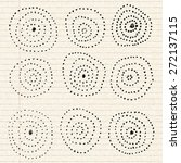 hand drawn circle pattern on a... | Shutterstock .eps vector #272137115