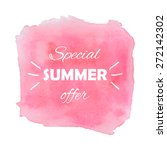 water color square banner with... | Shutterstock .eps vector #272142302