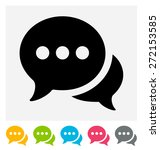 chat icon  | Shutterstock .eps vector #272153585