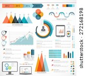 a big set of business... | Shutterstock .eps vector #272168198