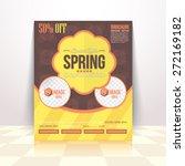 flat style spring season sale... | Shutterstock .eps vector #272169182