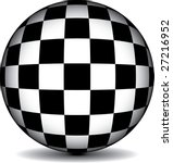 A Black And White Checkered...