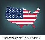 united states map with flag... | Shutterstock .eps vector #272173442