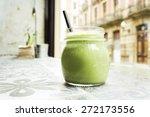 green smoothie. detox superfood | Shutterstock . vector #272173556