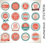 anniversary label collection ... | Shutterstock .eps vector #272178536