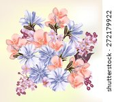 floral background with flowers | Shutterstock .eps vector #272179922