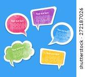dialogue cloud. vector... | Shutterstock .eps vector #272187026