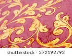 flourish pattern. gold leaf... | Shutterstock . vector #272192792