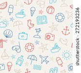 seamless pattern with icons... | Shutterstock .eps vector #272193236