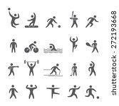 silhouettes figures of athletes ... | Shutterstock .eps vector #272193668