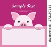 pig face text box  flat design... | Shutterstock .eps vector #272197166