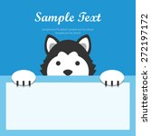 siberian husky dog face text... | Shutterstock .eps vector #272197172