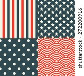 usa patterns. patriotic red ... | Shutterstock .eps vector #272200916