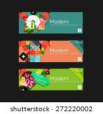 set of banners with stickers ... | Shutterstock .eps vector #272220002