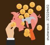 money concept design  vector... | Shutterstock .eps vector #272224652