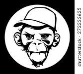 Monkey Face Black And White ...