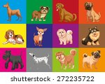 different type of dogs in... | Shutterstock .eps vector #272235722