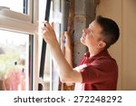 construction worker installing... | Shutterstock . vector #272248292