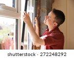 construction worker installing... | Shutterstock . vector #272248292