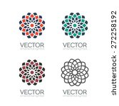 geometric logo template set.... | Shutterstock .eps vector #272258192