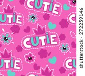 cute pink girlish pattern ... | Shutterstock .eps vector #272259146