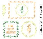 set  of colorful floral... | Shutterstock .eps vector #272260808