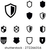 shield icons | Shutterstock .eps vector #272266316