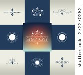collection of elegant ornament ... | Shutterstock .eps vector #272270282
