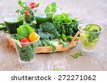 fresh vegetables and aromatic... | Shutterstock . vector #272271062