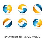set of vector isolated abstract ... | Shutterstock .eps vector #272279072