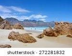 beach  rocks  mountains. shot... | Shutterstock . vector #272281832