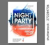summer night party vector flyer ... | Shutterstock .eps vector #272284736