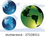 vector glossy globes | Shutterstock .eps vector #27228511