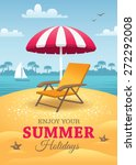 Bright Summer Holidays Poster...