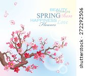 spring card with blossoming... | Shutterstock .eps vector #272292506