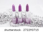 lipstick with pearls isolated... | Shutterstock . vector #272293715