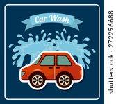 car wash design  vector... | Shutterstock .eps vector #272296688